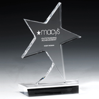 7585S (Screen Print), 7585L (Laser), 7585P (4Color Process) - Standing Star Award
